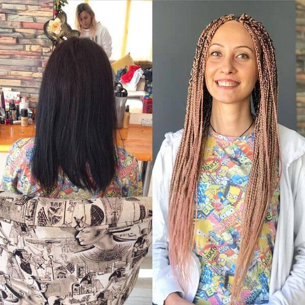 афрокосы до и после